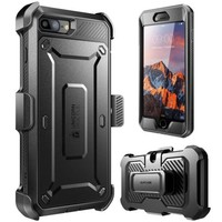 iPhone 7 Plus Case SUPCASE Full-body Rugged Holster w/ Built-in Screen Black New