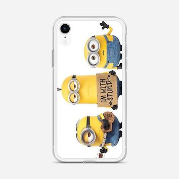 Minions Say Nobody Move iPhone XR Case