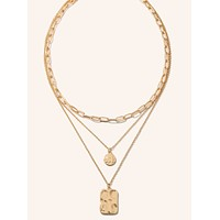 Lucia Layered Gold Coin Chain Necklace