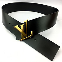 Louis Vuitton LV tide brand female models simple classic letter buckle belt
