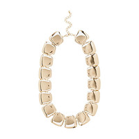 River Island Womens Gold tone chunky clean short necklace