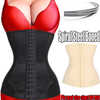 7 Steel Bone waist trainer Women Slimming Waist slimming corsets Underbust cincher body shaper corset slimming shapers