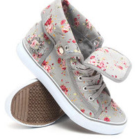 Blossom Floral Fold Down Canvas Sneaker by Apple Bottoms