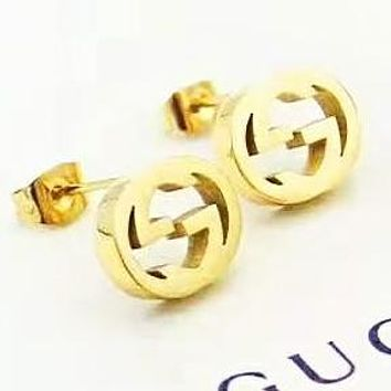 GUCCI Fashion new letter personality women earring accessory Golden