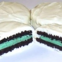 Scott's Cakes White Chocolate Covered Cool Mint Oreos in a Happy Birthday Pail