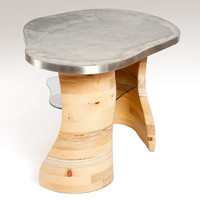 Curved re-claimed wood Coffee Table