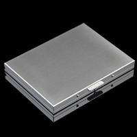 Honb® Slim Cool Metal Crush Proof Chrome Cigarette Case (Hold King Size and 100mm)