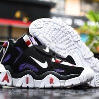 HCXX 19Sep 763 Nike Air Barrage Mid Returns in Raptors Colors CD9329-001 High Basketball Shoes Casual Sneaker