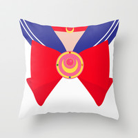 Sailor Moon Bow Throw Pillow by House of Jennifer