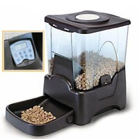 topPets Large Automatic Pet Feeder Electronic Programmable Portion Control Dog Cat Feeder w/ LCD display