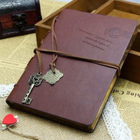 Random Classic Retro Vintage Leather Notebook Bound Blank Page Journal Diary WLN1 [7652113670]