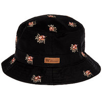 The Rose Buds Bucket Hat in Black