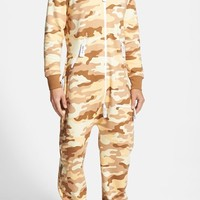 Men's ZOOOP iT UP Camo Desert Zip Hoodie Jumpsuit,