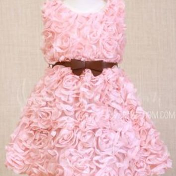 Lovely as A Blush Pink Rose Dress