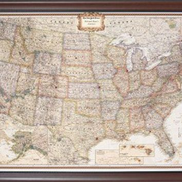 Push Pin USA Traveler Map Personalized To Track United States Travels