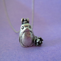 My, Neighbor, Totoro, Silver, Chain, Necklace, Totoro, Earrings, Gift, Jewelry