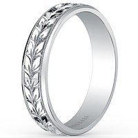 Kirk Kara Artin 5mm Hand Engraved Comfort-Fit Wedding Band