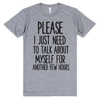 I NEED TO TALK ABOUT MYSELF | Athletic T-Shirt | SKREENED