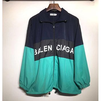 BALENCIAGA Women Men Fashion Zipper Cardigan Sweatshirt Jacket Coat Windbreaker Sportswear 2#