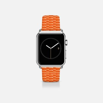 Mini links orange Apple Watch Band (38mm) by WAMDESIGN | Casetify