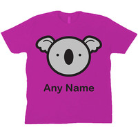 Personalised Koala Bear Children's T-Shirt (available in turquoise, lime green, pink or yellow)