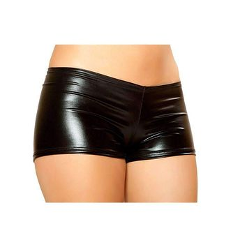 Roma Costume Shlq229- Pucker Back Metallic Short