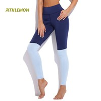 Patchwork Army Sport Legging Fit Push Up High Capri Stretch Workout Clothes for Women Active Running High Waist Yoga Pants