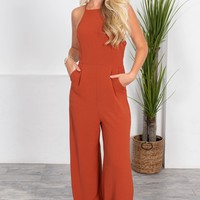 Burnt Orange Powerhouse Jumpsuit