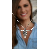 Western Bull Skull Necklace