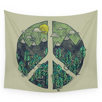Society6 Peaceful Landscape Wall Tapestry