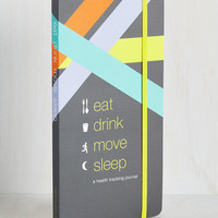 Food Eat Drink Move Sleep Health Tracking Journal Size NS by Chronicle Books from ModCloth