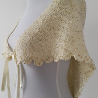 Free shipping bridal accessories, ivory,bridal shawl,winter wedding shawl! Wraps  bridal,  bridesmaids,wedding  gifts.sequins wrap