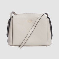 Mist Gray Structured Cross Body Bag