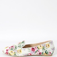 Wild Diva Starla-33 Floral Loafers | MakeMeChic.com