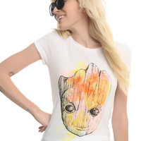 Marvel Guardians Of The Galaxy Vol. 2 Baby Groot Watercolor Girls T-Shirt