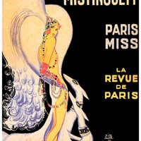 Mistinguett Casino de Paris French Ad Poster 11x17