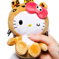 Sanrio Tokidoki X Hello Kitty Summer Safari Leopard Kitty Plush Brown One