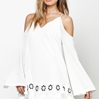 Moon River Embroidered Cold Shoulder Dress at PacSun.com