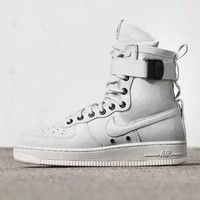 Nike Air Force 1 AF1 High Tops White For Women Men Running Sport Casual Shoes Sneakers