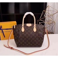 LV Louis Vuitton MONOGRAM CANVAS TURENNE HANDBAG SHOULDER BAG