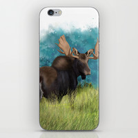 Moose  iPhone & iPod Skin by North Star Artwork