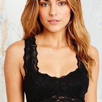 Lace Back Crop Top in Black - Urban Outfitters