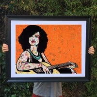 Instrumental poster print collage wall art