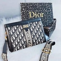 Dior wide shoulder strap Crossbody Bag female shoulder bag Messenger bag