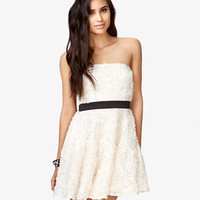 Floral Appliqué Fit & Flare Dress | FOREVER 21 - 2058982051