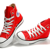 Converse Chuck Taylor All Star High Top Red Canvas Shoes [101013] - $46.00 : New Converse American Flag, Converse USA Flag, Converse Chuck Taylor All Stars Shoes Online Shop!