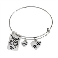 """""""Dog Hair Completes the Outfit"""" Bangle Bracelet"""
