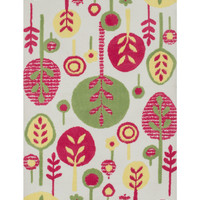 Loloi Rugs Zoey Leafy Rug - Pink