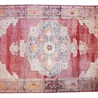 9x14 Vintage Distressed Oushak Carpet