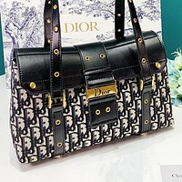DIOR New fashion more letter leather shoulder bag women handbag